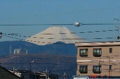 東京から見える富士山も綺麗です。クリックすると大きくなります。r