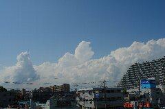 いい天気!でも入道雲がにょきにょき。クリックすると大きくなります。r