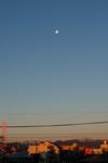 朝焼けと月。クリックして大きくしてくださいね。r1