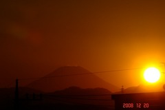 日没と富士山12/20、2。クリックして大きくしてくださいね。r1