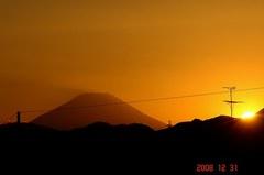 富士山12/31(夕)。クリックして大きくしてくださいね。r1