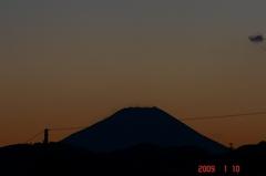 富士山09'1/10夕。クリックして大きくしてくださいね。r1