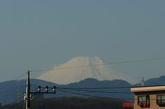 富士山09'2/21(朝)。クリックして大きくしてくださいね。r1