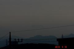 ぎりぎり夕景富士山10'4/10。クリックすると大きくなりますR1。