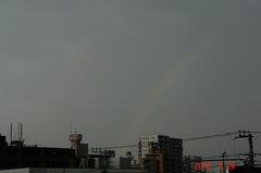 久々の虹。クリックすると大きくなりますR1。