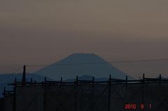 夕景富士山10'9/1。クリックすると大きくなりますR1。