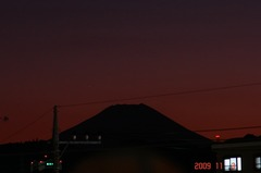 夕景富士山09'11/3。クリックして大きくしてくださいね。r1