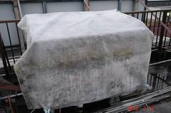 ミニ温室もちゃんと保温しないと温室内が氷点下になる可能性があるので職場から捨てられる厚い不織布をもらってきて被せてますががそれでも冷えると温室内は氷点下になってしまいますので安心は禁物です。クリックすると大きくなりますR1。
