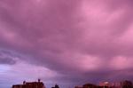 ピンクな雲、北