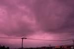 ピンクな雲、南