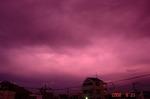 ピンクな雲、東