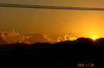 日没と富士山11/29