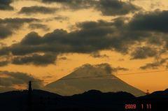 富士山09'1/11夕。クリックして大きくしてくださいね。r1