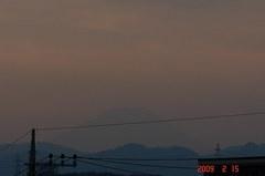 富士山09'2/15(夕)。クリックして大きくしてくださいね。r1