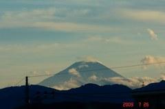 夕景富士山09'7/26。クリックして大きくしてくださいね。r1