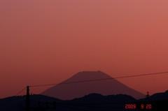 夕景富士山09'9/20。クリックして大きくしてくださいね。r1