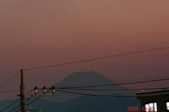 夕景富士山09'10/13。クリックして大きくしてくださいね。r1