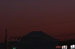 夕景富士山09'10/19。クリックして大きくしてくださいね。r1