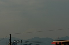ギリギリ富士山09'11/7。クリックして大きくしてくださいね。r1