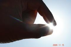 太陽を摘んで見る。クリックすると大きくなります。R1