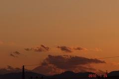 夕景富士山10'1/24。クリックすると大きくなりますR1。