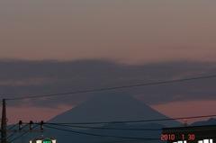 夕景富士山10'1/30。クリックすると大きくなりますR1。