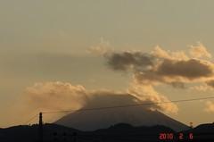 夕景富士山10'2/6。クリックすると大きくなりますR1。