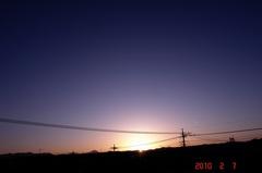 屋上からの夕景。クリックすると大きくなりますR1。