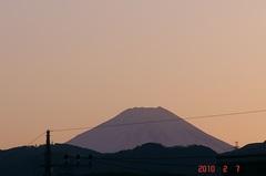 夕景富士山10'2/7。クリックすると大きくなりますR1。