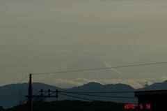 夕景富士山。クリックすると大きくなりますR1。