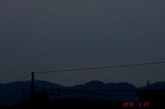 無理やり夕景富士山10'3/27。クリックすると大きくなりますR1。