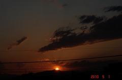 久々撮りたくなった夕日。クリックすると大きくなりますR1。