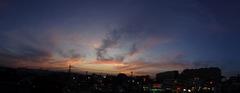 夕景をスイングパノラマで。クリックすると大きくなりますtx7。