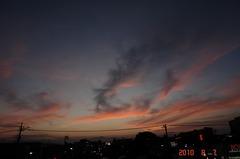 夕日。クリックすると大きくなりますR1。