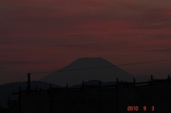 夕景富士山10'9/3。クリックすると大きくなりますR1。