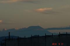 夕景富士山10'9/17。クリックすると大きくなりますR1。
