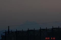 夕景富士山10'9/22。クリックすると大きくなりますR1。