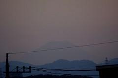 夕景富士山12'07/10