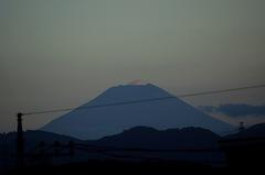 夕景富士山12'08/01