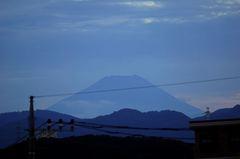 夕景富士山12'08/05