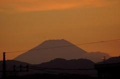 夕景富士山12'08/16